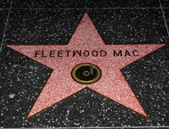 Fleetwood Mac: Stevie Nicks, Lindsey Buckingham, Christine McVie, John McVie, Mick Fleetwood  Location: 6608 Hollywood Blvd.
