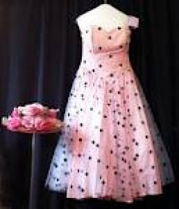 The Flamingo Lady wore a pink dress similar to the one shown here.