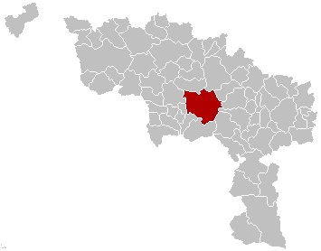 Map location of Mons, Hainaut, Belgium