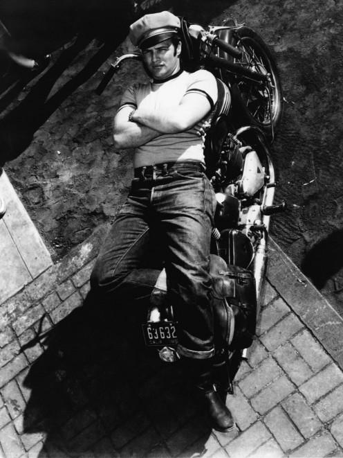 Marlon Brando, resplendent in his rebellious T-shirt