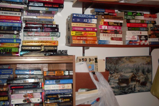 Books yet to be read which keep me from writing books yet to be written.