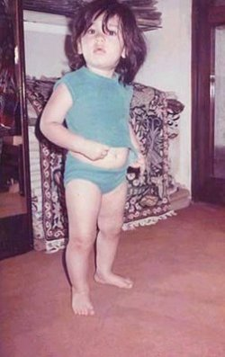 Youngest childhood photo of Kareena Kapoor available