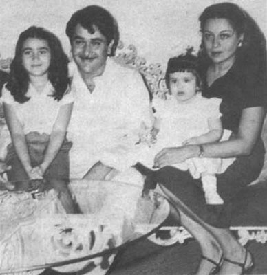 With family. Sister, Father and Mother