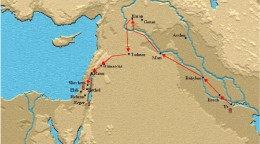 Abram's journey from Ur through Haran to Canaan