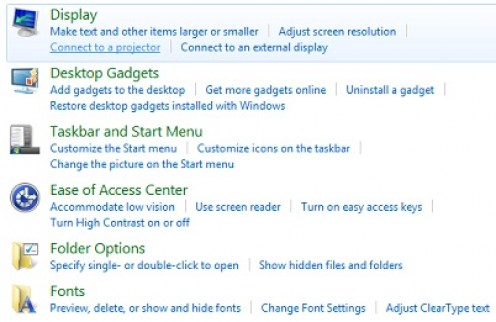 You have to access your options for viewing an external monitor on a desktop computer through the Control Panel.