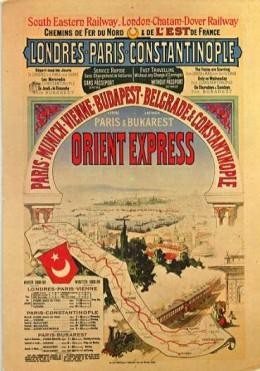 Poster advertising the Orient Express