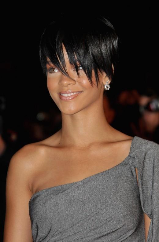 Rihanna hairstyle.