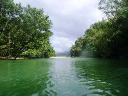 The part of Puerto Princesa Underground River that flows to the ocean