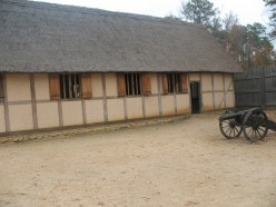 Replica of Colonial Housing from approximately 1610