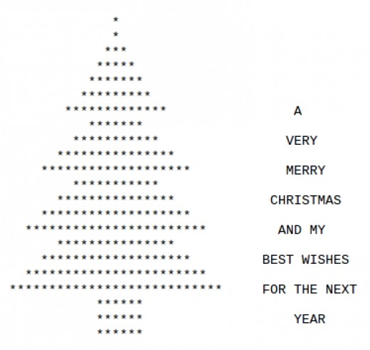 Christmas Text Art Symbols