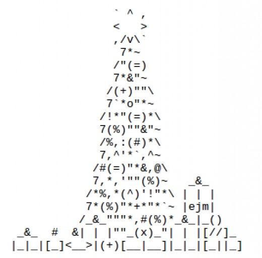 Single Line Ascii Art Facepalm : Christmas trees in ascii text art holidappy