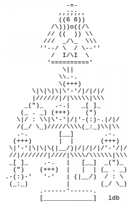 One Line Ascii Art Party : Christmas trees in ascii text art holidappy