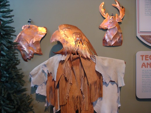 Honoring the animals through copper art.