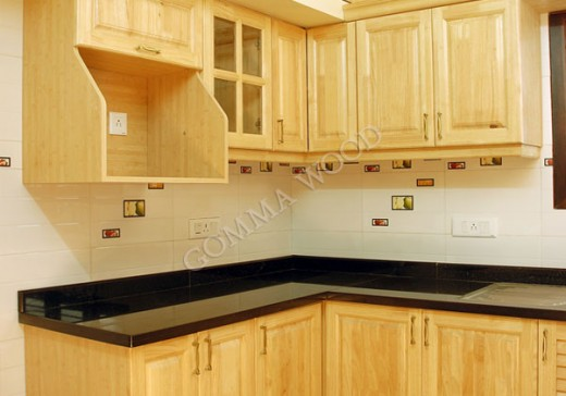 RUBBERWOOD KITCHEN CABINETS AND WORKTOPS IDEAS | KITCHEN BUILDING