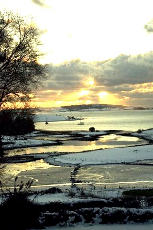 Strangford Lough on Christmas morning 2010