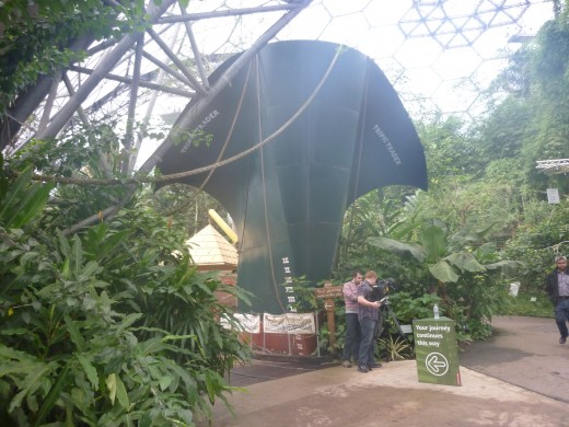 A trading ship ... in the Tropical biome. My camera was beginning to steam up with the humidity. Great on a cold day ...