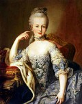 Marie Antoinette at 13, Looking much like she would have at her wedding