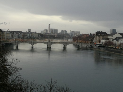 Basel River view, Switzerland