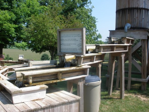 Gem Mining Sluice at The Ohio Caverns