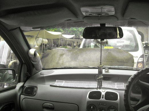 Traffic was often at a standstill because of the cows on the road