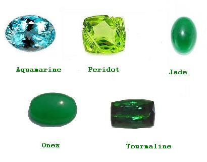 Substitute Stones of Emerald - Aquamarine, Peridot, Green Jade, Onex and Tourmaline