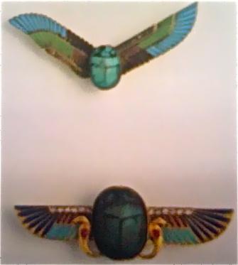 Art Deco scarab brooches