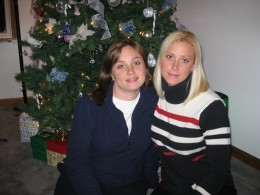 Daughters: Cara (L) and Christa (Rt)