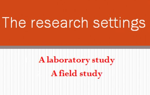 The research settings