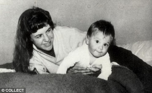 Plath and her son Nicholas