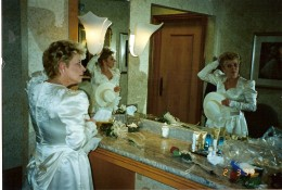 Cookie getting ready to renew her vows during one of our trips to Vegas.