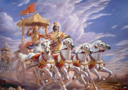 Krishna and Arjuna in