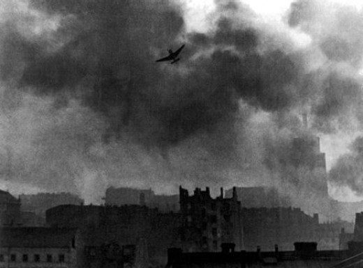 The bombing of Warsaw, 1939