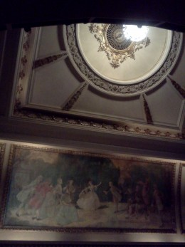 Ceiling above the stage at the Cort Theatre