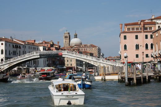 One of the 4 bridges that cross the Grand Canal.