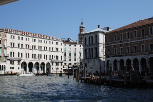 Some buildings on the Grand Canal.