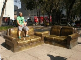 Street Art Exhibit E: Sofas set (the complete living room). Visit Mexico and Interact with its Urban Art.