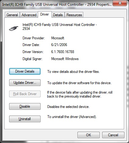 Try updating or rolling back the driver for your USB controller if your USB device isn't functioning properly.
