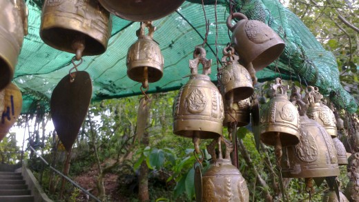 Close up of Buddist Bells