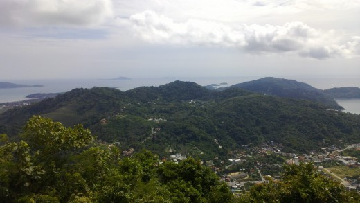 View from the Buddha of Phucket town and bay taken on the Nokia N9