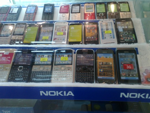 Another Nokia section at another phone stand