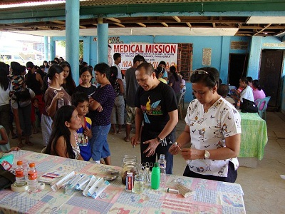University of the City of Manila Philippines College of Nursing Medical Mission in Naguilian, Pangasinan with Dean Nilo Capangpangan, RN,RM, MAN