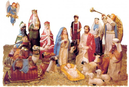Misconceived nativity scene