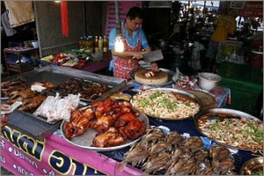Isaan cuisine in ubon ratchatani