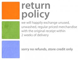 money saving tip - know the return policy