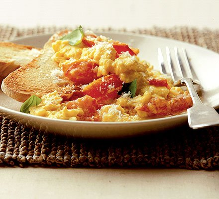 This isn't the actual photo of the scrambled eggs I cooked. I'm lazy to take a photo and so I just found one randomly online.