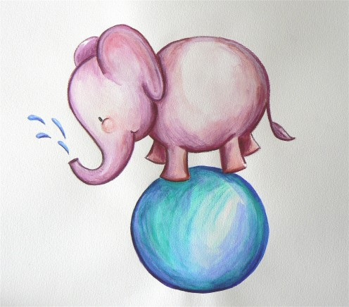 'Roly Poly Elephant' by R Harriott
