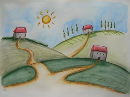 'The Little Village' by R Harriott
