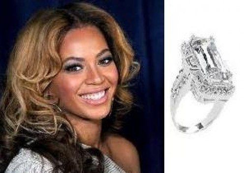 Beyonce's engagement ring from Jay Z aka Shawn Carter