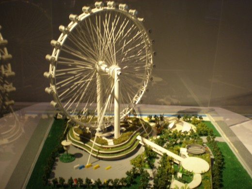 The miniature of Singapore Flyer.