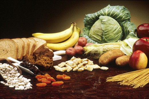 Fruits and Vegetables are a good source of soluble fiber.